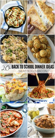"""Never dread hearing, """"What's for dinner?"""" again! These 20+ Back to School Dinner Ideas are quick and easy recipes that are guaranteed to be a hit with your family!"""