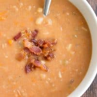 Bacon Bean Soup is what comfort food is all about! Easy to make and full of flavor for a meal you'll love!