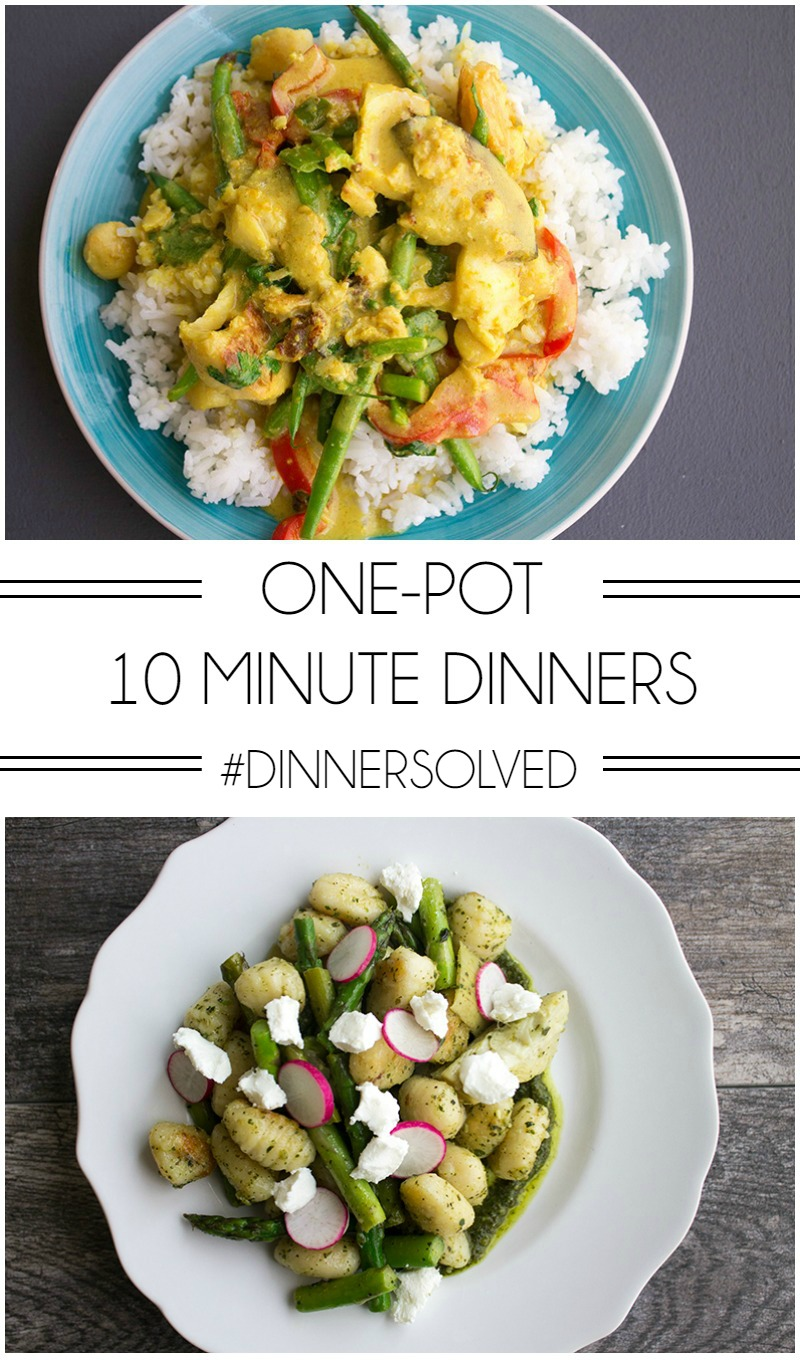 Dinner is a breeze every night when you make One-Pot 10 Minute Dinners with Gobble! #ad