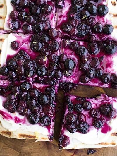 Grilled Blueberry Dessert Pizza Recipe