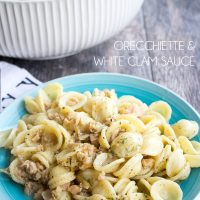 Get dinner on the table in a hurry! This Orecchiette & White Clam Sauce only takes 15 minutes to cook and will totally #elevateyourplate! #mydorot #ad