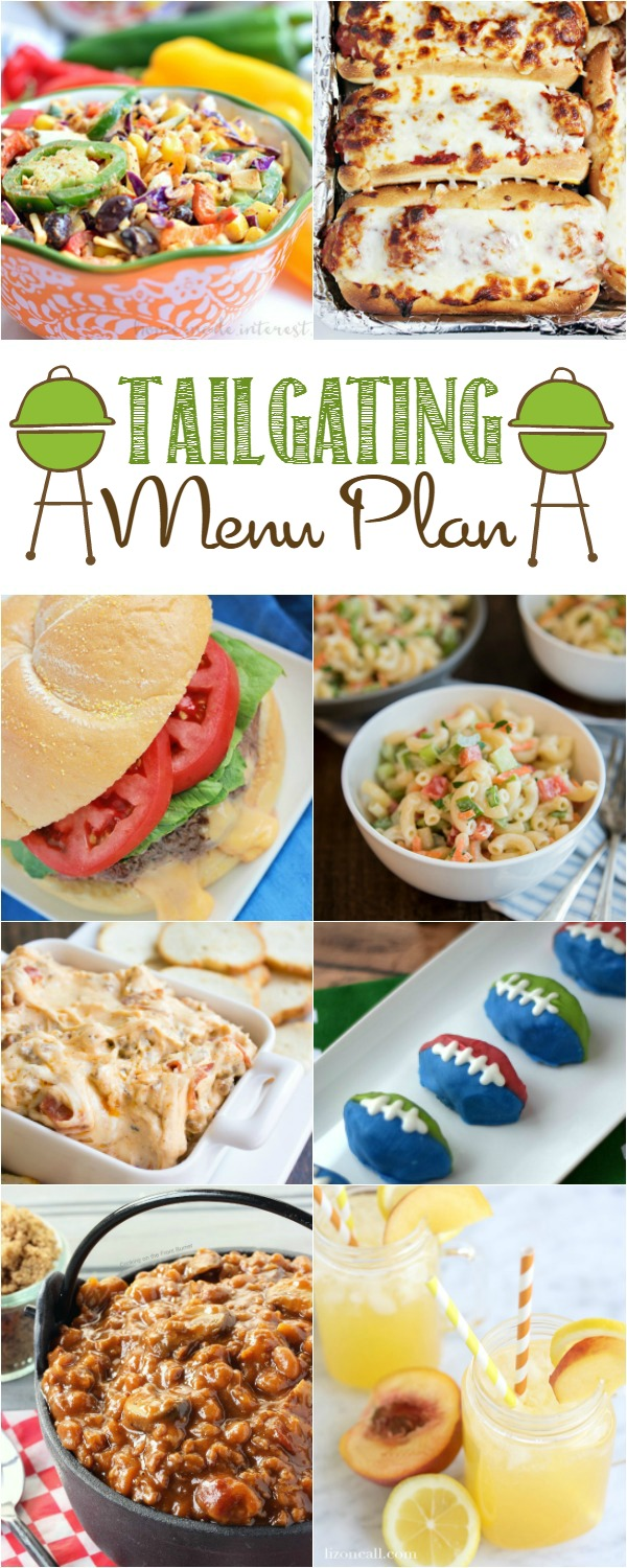 Gather your friends for the big game! We have everything you need for your Tailgating Party Menu Plan!