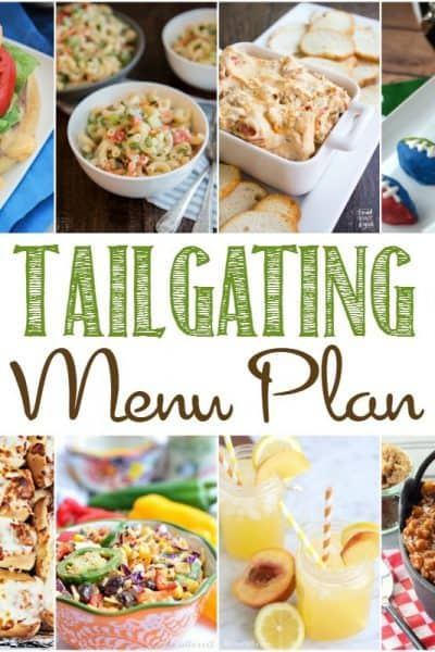 Tailgating Party Menu Plan