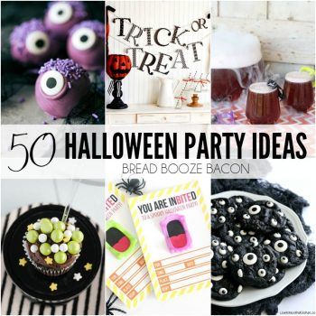 These 50 Halloween Party Ideas will help you throw the best bash on the block! You'll find everything from printables, crafts, and costumes to creepy cocktails and eerie eats!