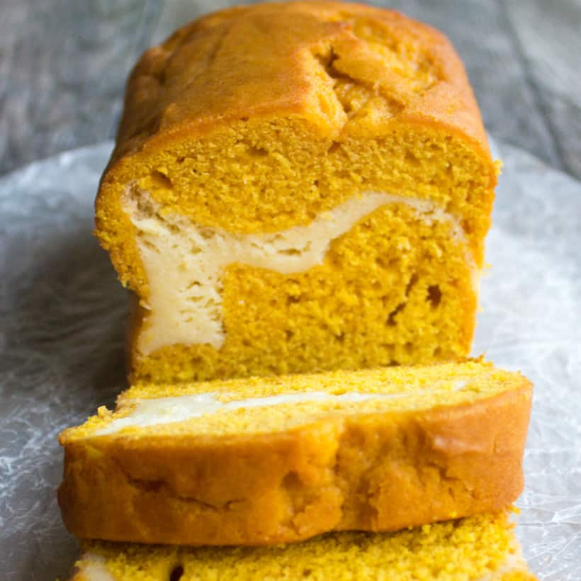 Cream Cheese Stuffed Pumpkin Bread is a decadent treat that's perfect for fall!