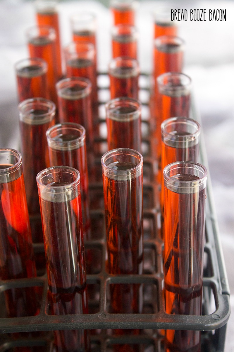 Forbidden Forest Test Tube Shots are a dangerously delicious shot that's perfect for getting your Halloween party started!