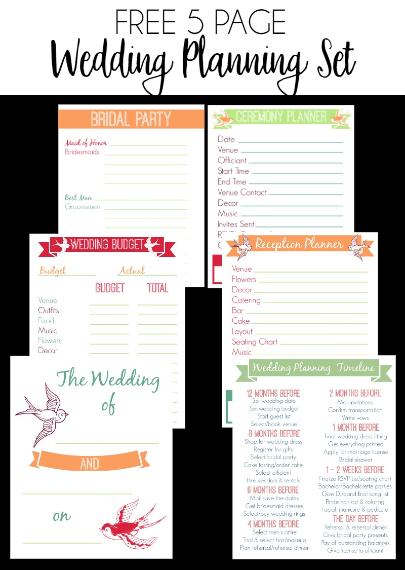 It is an image of Sassy Free Printable Wedding Planner Worksheets