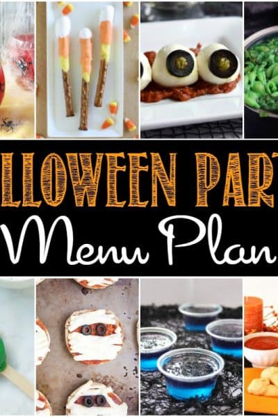 Throw the best bash on the block with these easy Halloween Party Menu Plan ideas!