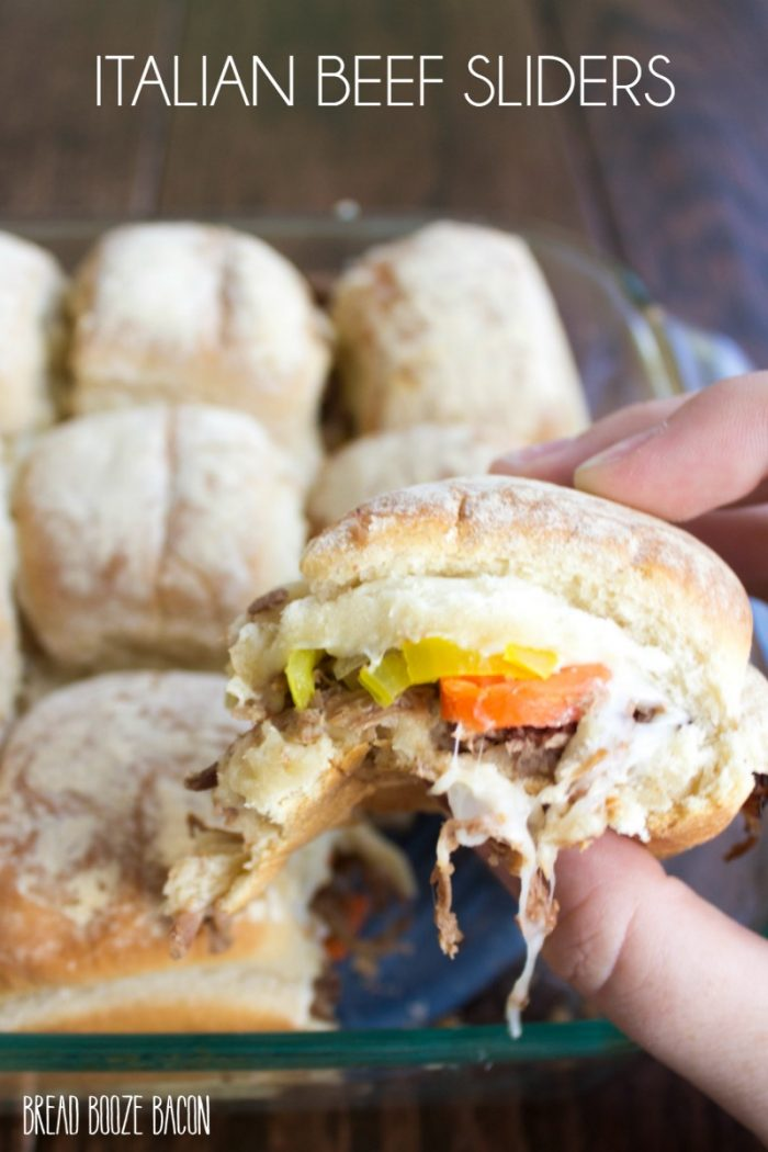 Italian Beef Sliders are a party perfect spin on a Chicago classic that's made for game day!