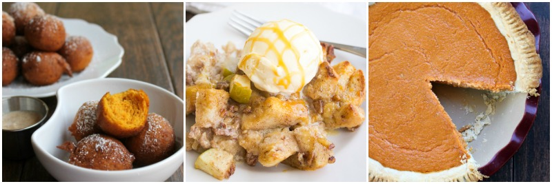 pumpkin-bread-pudding-collage