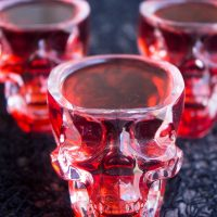 Lose yourself to the night with this luscious Succubus Kiss Halloween Party Cocktail!
