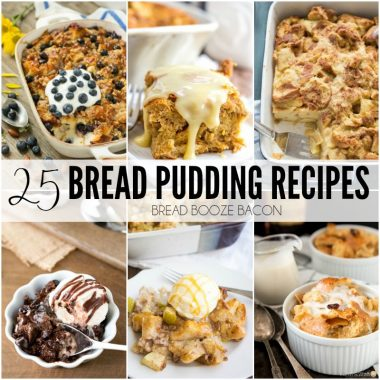It's just not a holiday dinner without a big piece of bread pudding to finish off the meal! These 25 Bread Pudding Recipes are some of my all-time favorites!