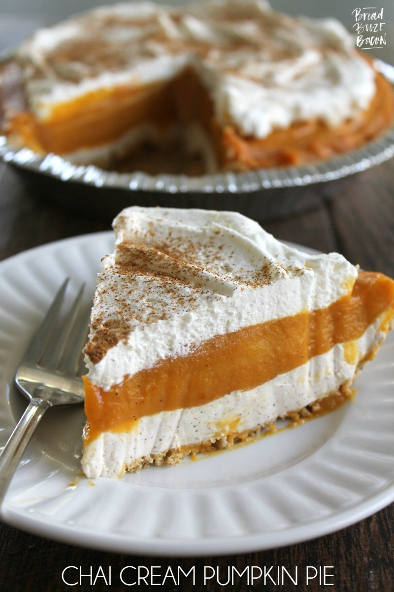 Chai Cream Pumpkin Pie is a decadent no-bake dessert that'll be the star of your holiday table!
