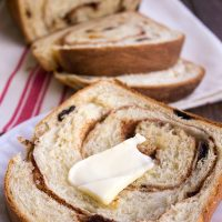 This Cinnamon Raisin Bread Recipe is home-baked goodness at it's finest!
