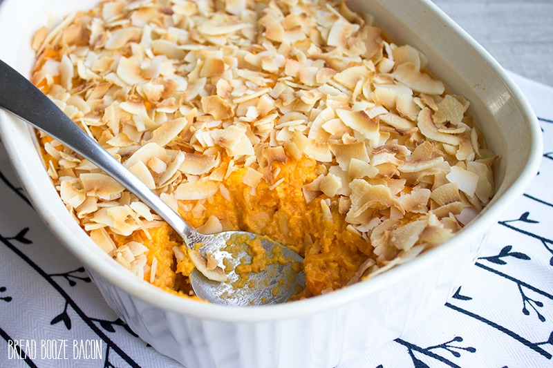 Coconut Sweet Potato Casserole is a healthier spin on a holiday favorite!