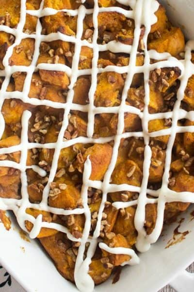 Pumpkin Bread Pudding Recipe