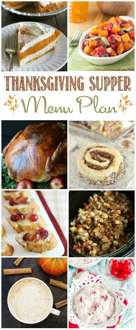 Make planning this year's holiday dinner a snap with our easy Thanksgiving Supper Menu Plan!