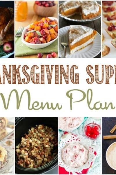Thanksgiving Supper Menu Plan