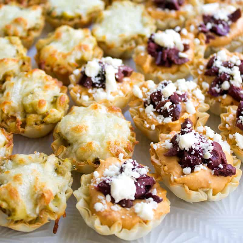 Mini Hummus Phyllo Bites are an easy-to-make appetizer that's perfect for parties!