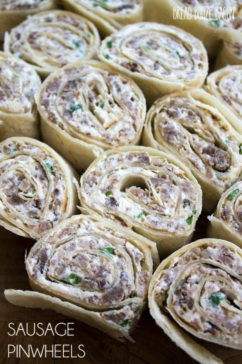 This Sausage Pinwheels Recipe is an easy, make-ahead appetizer that'll be the hit of your next party!