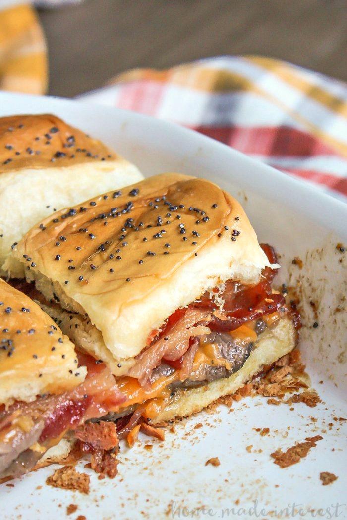 Bourbon Bacon Roast Beef Sliders Bread Booze Bacon