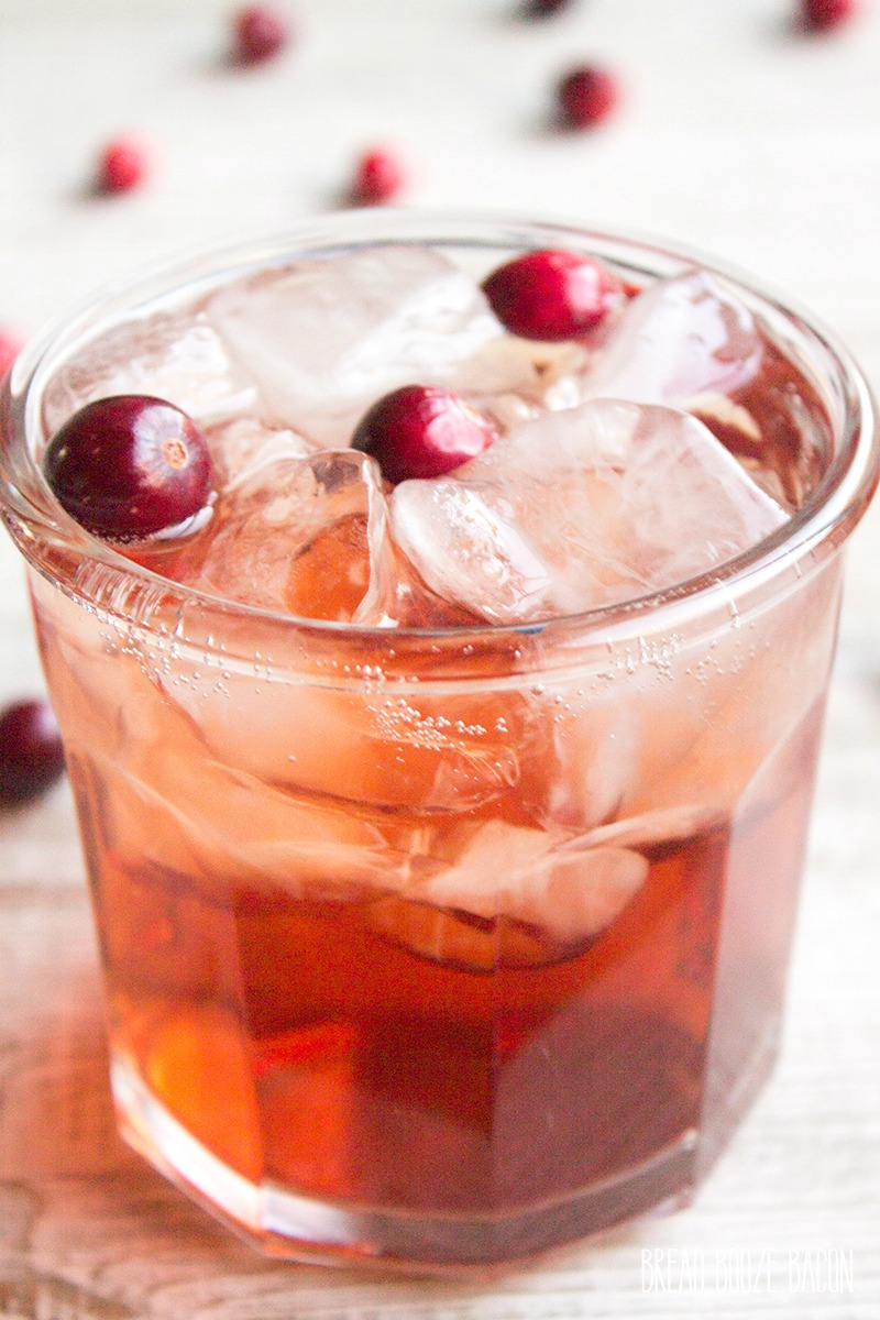 Cranberry Apple Fizz is a simple cocktail that's dangerously easy to drink!