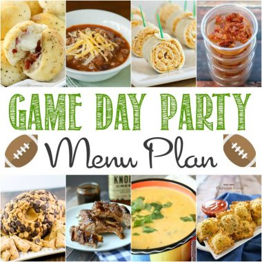 Gather your friends and get ready to watch the big game! This Game Day Party Menu Plan will make putting together a game day spread a breeze!