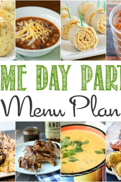 Game Day Party Menu Plan