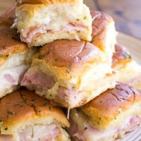 Ham & Turkey Club Sliders are an easy appetizer that's totally addicting and perfect for game day!