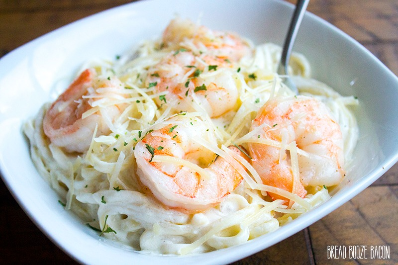 Get dinner on the table in about 15 minutes with this Easy Shrimp Alfredo recipe that'll rival any restaurant!