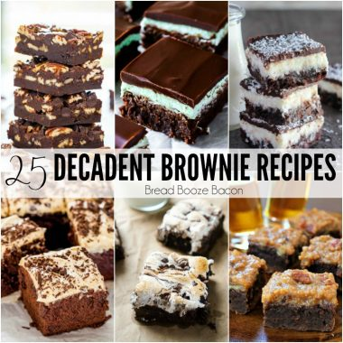 Sometimes I get the worst chocolate cravings, and there's nothing I love more to satiate my sweet tooth than these 25 Decadent Brownie Recipes! They're chocolatey, fudgy, rich, and decadent. Everything you've been craving!