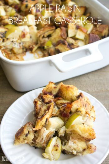 Apple Raisin Breakfast Casserole is full of delicious morning flavors that'll have everyone asking for seconds!