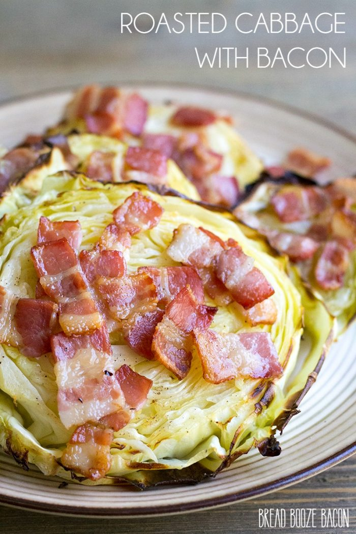 Roasted Cabbage with Bacon is an easy side dish that's perfect alongside corned beef!