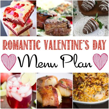 Treat your special someone with a meal to remember! These Romantic Valentine's Day Menu Plan recipes will make preparing the perfect dinner easy!