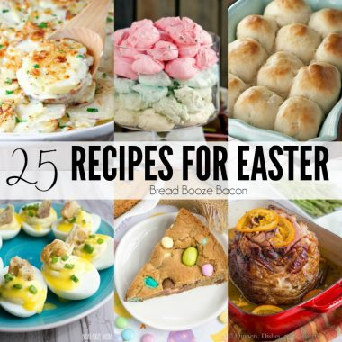 These 25 Recipes for Easter will have you celebrating in style! Find everything you need for your holiday meal, or indulge in all kinds os delicious desserts everyone will love!