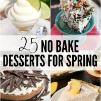 Easy desserts are my favorite thing to bring to parties and potlucks. These 25 No Bake Desserts for Spring are made for entertaining and crazy easy to whip up!
