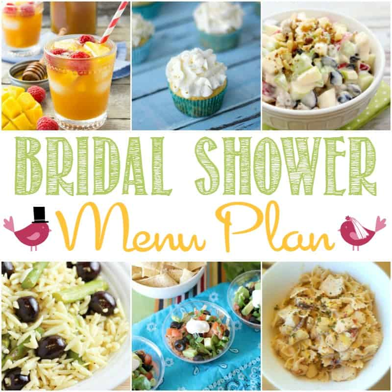 bridal shower menu plan bread booze bacon