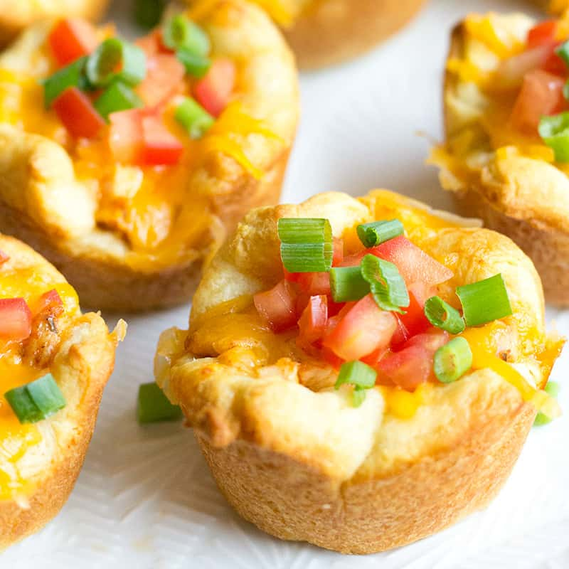 Chicken Taco Cups are an easy to make appetizer that disappears as fast as you can make them!