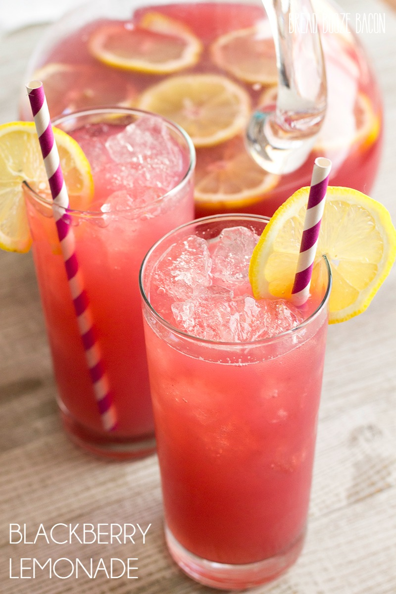 This Blackberry Lemonade Recipe is a refreshing drink that's sure to cool you down on a hot day! Add some vodka and you'll have a yummy party punch!