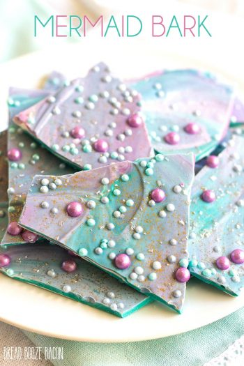 This fun and colorful Mermaid Bark recipe is perfect for birthday parties and pool parties alike. It's an easy treat that will brighten any day!