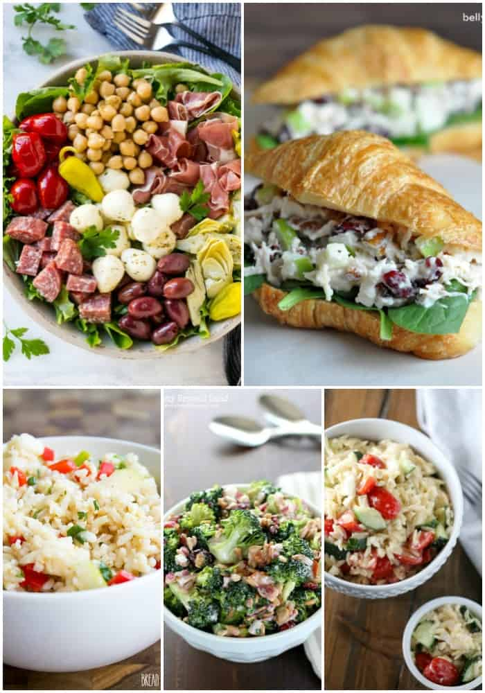 If you love a lighter meal for a hot day, these 20 Simple Summer Salads are sure to make you smile!