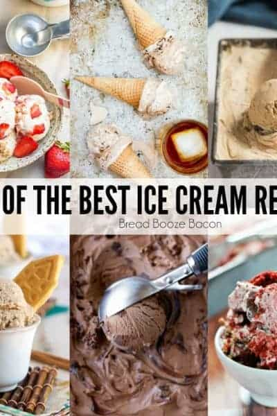 There's nothing better to cool off with on a hot summer day than ice cream! I've rounded up 25 of the Best Ice Cream Recipes to satisfy your sweet tooth and beat the heat!