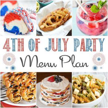 4th of July Party Menu Plan