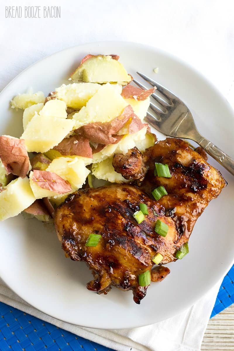 Huli Huli Chicken is a Hawaiian favorite! This marinated grilled chicken is SO delicious and made with a few kitchens staples!