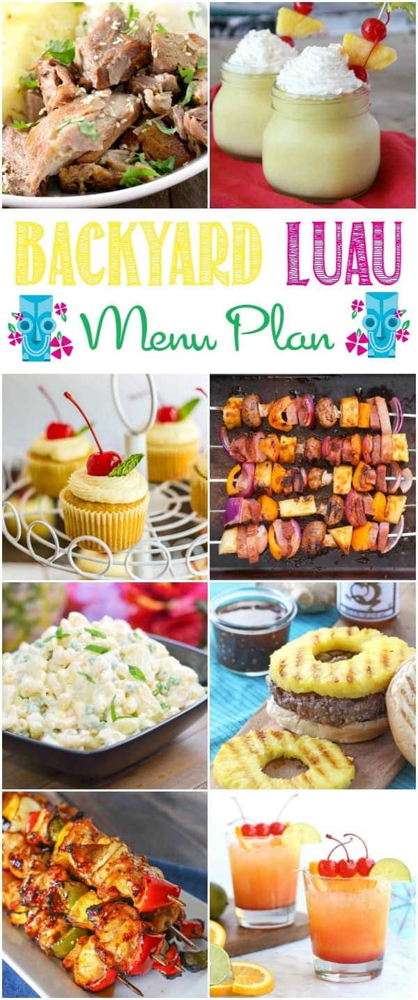 backyard luau menu plan • bread booze bacon