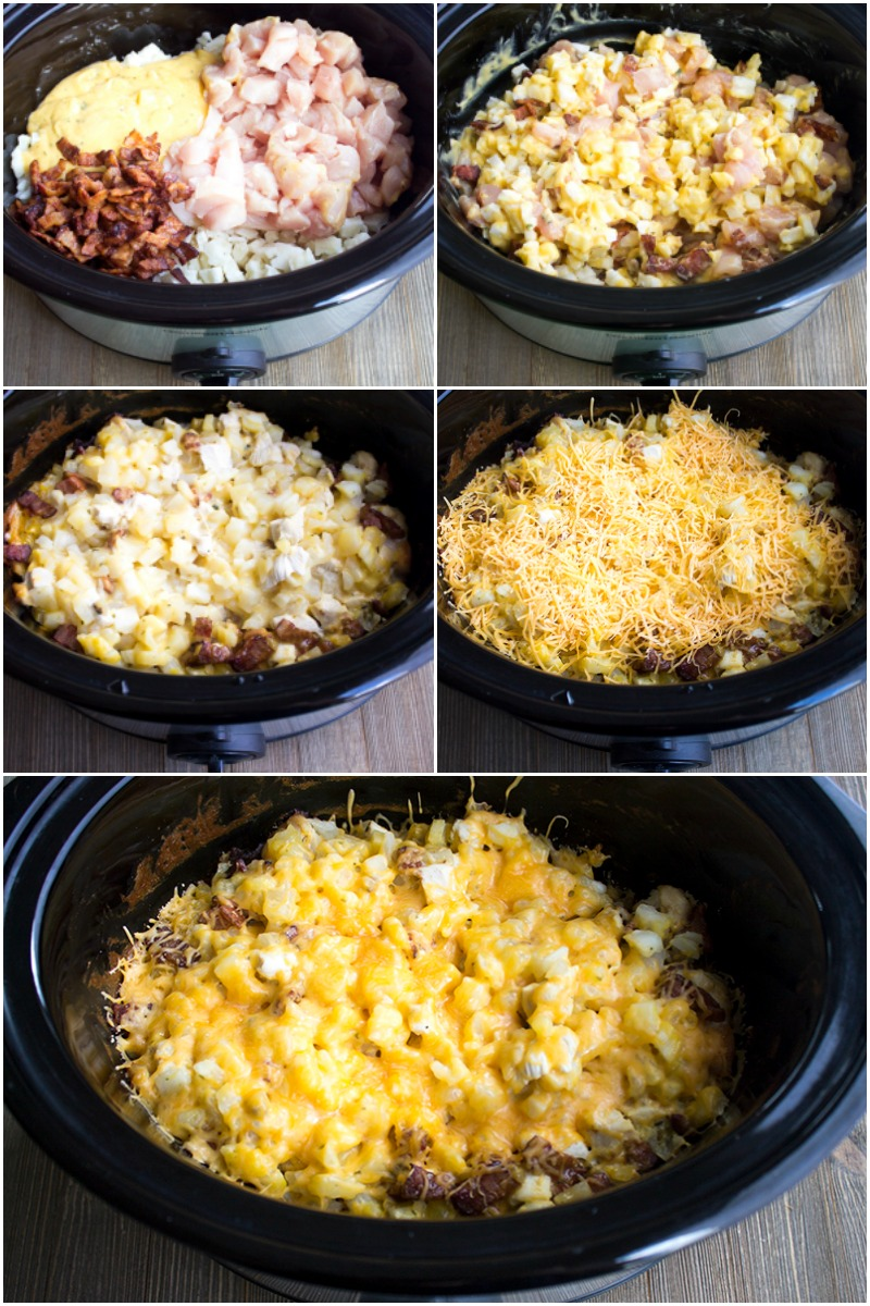 Crock Pot Bacon Ranch Cheesy Chicken Hash is a deliciously easy weeknight dinner that'll become a family favorite!
