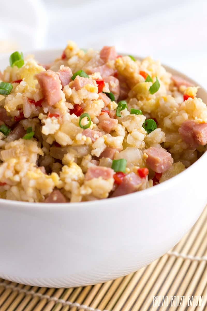 Hawaiian Fried Rice is a tropical twist on a take-out favorite! This recipe is easy to make and a delicious way to use up leftover ham!