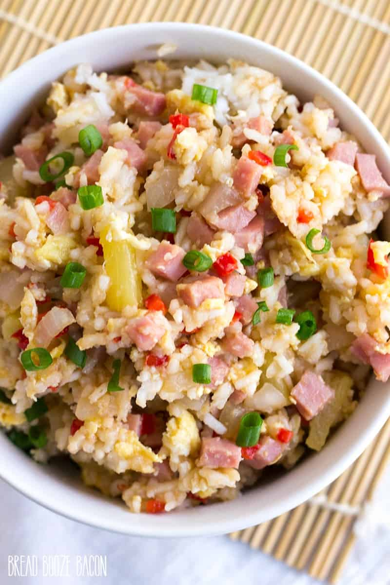 Hawaiian fried rice bread booze bacon hawaiian fried rice is a tropical twist on a take out favorite this recipe ccuart Gallery