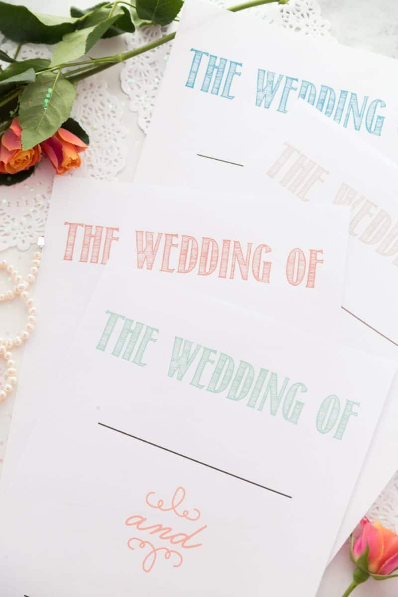 It doesn't matter if you're going super traditional or having an offbeat wedding, this 30 Page Wedding Planning Printable Set will help you remember the little things and get you through this process with a lot less stress!