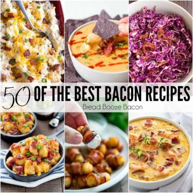 Grab your fat pants and get ready to drool! These are 50 of the Best Bacon Recipes and you are going to want seconds of everything!